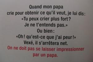 Alain LE SAUX, Comment élever son papa ?