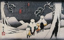hiroshige-payasge-maison-et-homme-sous-la-neige--3-