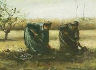 Van Gogh - Deux paysannes bêchant des pommes de terre