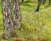 Van Gogh - Troncs d'arbre dans l'herbe (1890)