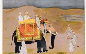 Lempereur-mogol-Muhammad-Shah-voyageant-sur-un-éléphant-Hunhar-Inde-vers-1750-©-Fondation-Custodia-Collection-Frits-Lugt-Paris