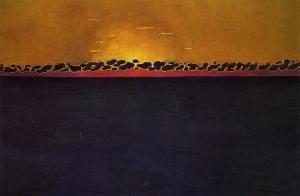 Felix-Vallotton-Sunset-Gray-Blue-High-Tide