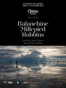 Robbins, Millepied, Balanchine, affiche