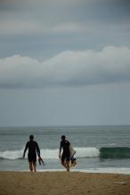 Pays-Basque, surfeurs