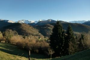 Le Péré, Boussenac, vue sur les Pyrénées