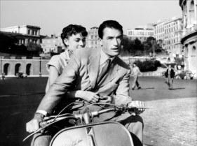 Vacances romaines, Greory Peck et Audrey Hepburn en Vespa
