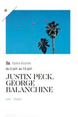Peck-Balanchine, Bastille, affiche