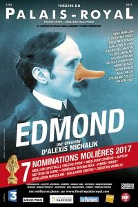 Edmond, théâtre du Palais Royal, affiche