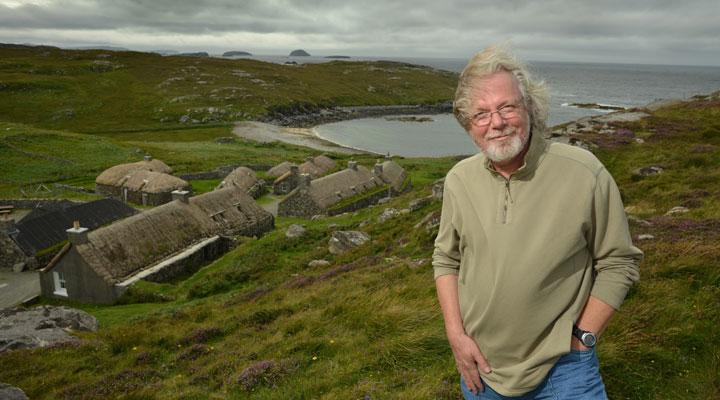Portrait de Peter May en Ecosse