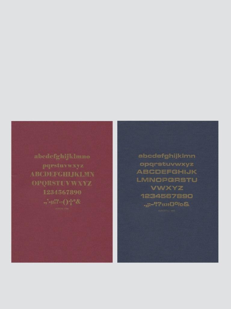 Deux carnet le typographe